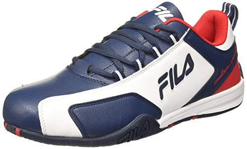 Fila Men's Afro Low Wht/Pea/CHN Rd Sneakers-9 UK (43 EU) (10 US) (11006897)