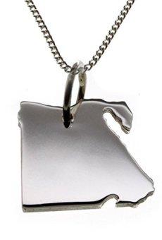 Colgante{925} de plata con cadena de Egipto (1,2 mm tanquecito) en 50 cm