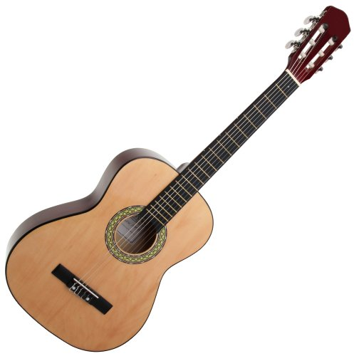 Guitarra clásica de tilo americano, tamaño 3/4