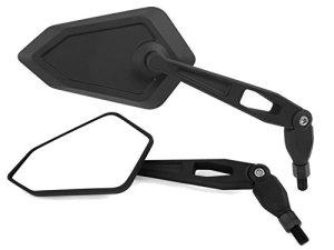 Universal Motorrad Rückspiegel Spiegel Set, e-geprüft (schwarz, 2x M10 Rechtsgewinde) 4