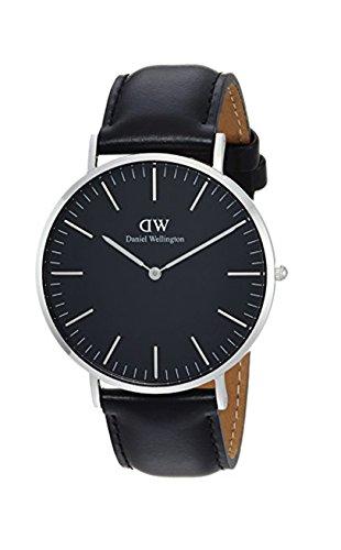 Daniel Wellington Herren Analog Quarz Uhr mit Leder Armband DW00100133