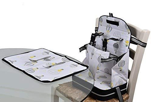 Baby Polar Gear Go Anywhere Set rialzino con cintura a 5punti e tovaglietta
