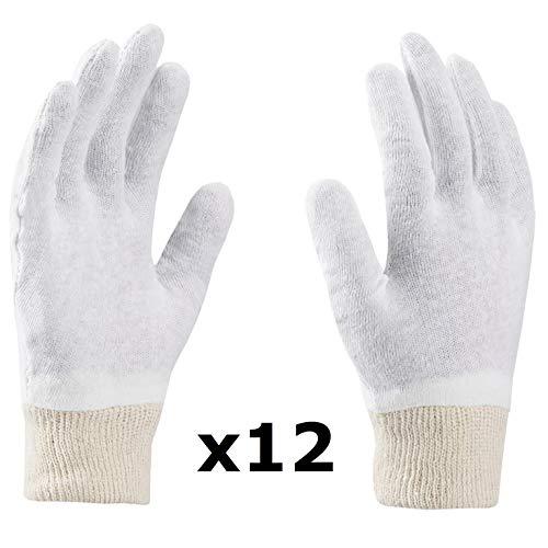 Guanti in cotone, SOFT, guanti morbidi, guanti medici, guanti cosmetici, bianchi, piacevoli e...