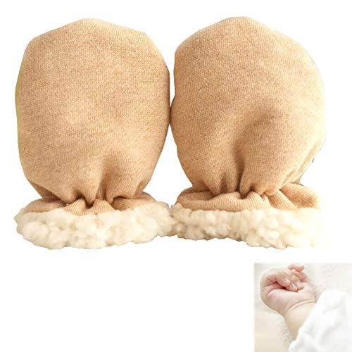 1 accoppiamento delle ragazze dei neonati guanti caldi di inverno neonato addensare Sherpa foderato...