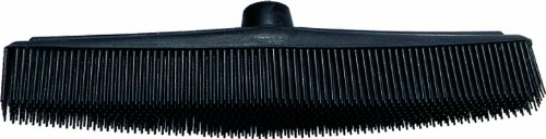 Fripac-Medis - Cepillo de barrer de goma para peluquería (30 x 5 cm), color negro
