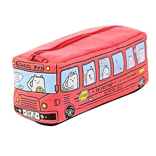 creative Pencil Case studenti bambini gatti School Bus Pencil Case bag ufficio Sstationery bag Red...