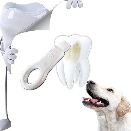 Zahnreinigungsset für Hunde und Katzen für Haustiere zum Entfernen von Tee-, Nikotin- und...