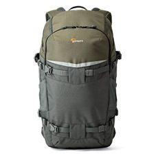Lowepro Flipside Trek BP 450 AW - Mochila para cámara con Apertura en la Espalda, Gris/Verde Oscuro