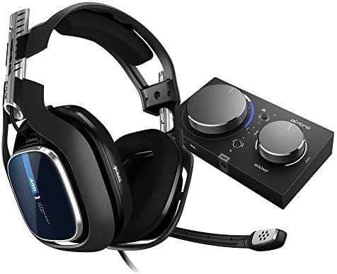 ASTRO Gaming A40 TR kabelgebundenes PC-Headset + Gaming MixAmp Pro TR Gen 4 Adapter (mit Dolby Audio, kompatibel mit PlayStation 4, PC, Mac) schwarz/blau