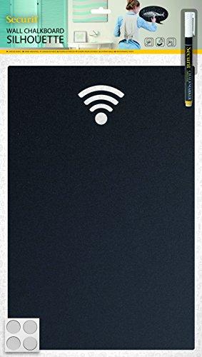 Securit–Lavagna Lavagna WiFi–Incluso Chalkmarker e Strisce di Velcro per Montaggio a...