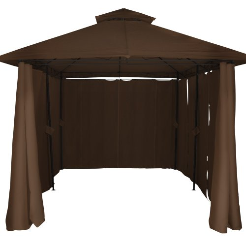 Miadomodo® Garden Pavilion Gazebo Marquee Party Tent Awning 400x 300x 280cm Selection of Colours Available–Beige/Brown