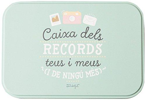 653bdd913 Mr. Wonderful Caja metálica con mensaje 'Caixa dels Records teus y meus(I