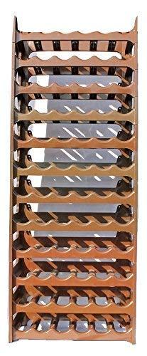 ARTECSIS Cantinetta Portabottiglie in Plastica Modulare 72 Bottiglie Marrone