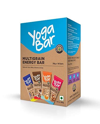 Yogabars Multigrain Energy Bars Variety Box - 38gm x 10 Bars