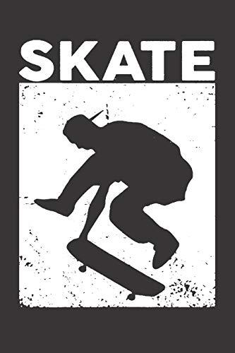 Notebook for sk8er sk8 longboard skate vintage: Dot Dotted Grid Funny Notebook Diary Journal Skater...