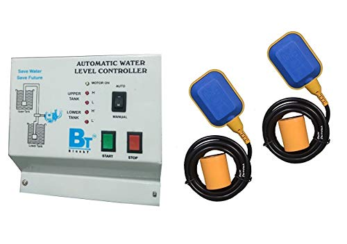 Blackt Electrotech Fully Auto Water Level Controller with Two Float Switch For Overhead & Sump Tank with Buzzer Indication
