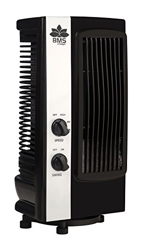 BMS Lifestyle Tf-101 Portable Mini Revolving & Oscillating Tower Fan - Black