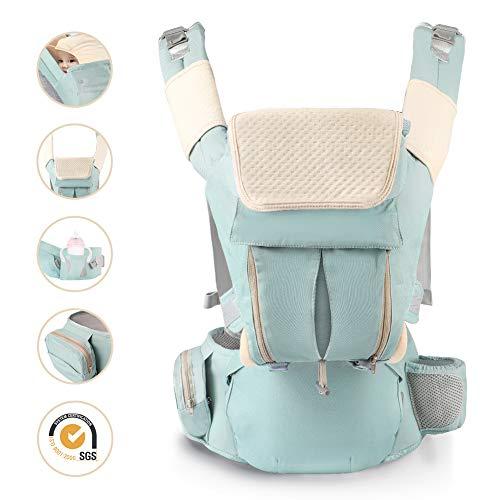 Porte bébé Ergonomique Kangourou Sac à Dos à 30 Kg Multiposition Réglable Ventraux & Dorsaux...
