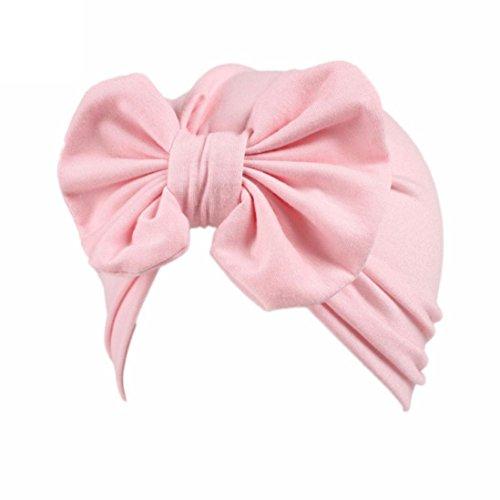 Clode® Baby Mütze Kinder Baby Mädchen Boho Hut Beanie Schal Turban Kopf Wrap Cap (Rosa)