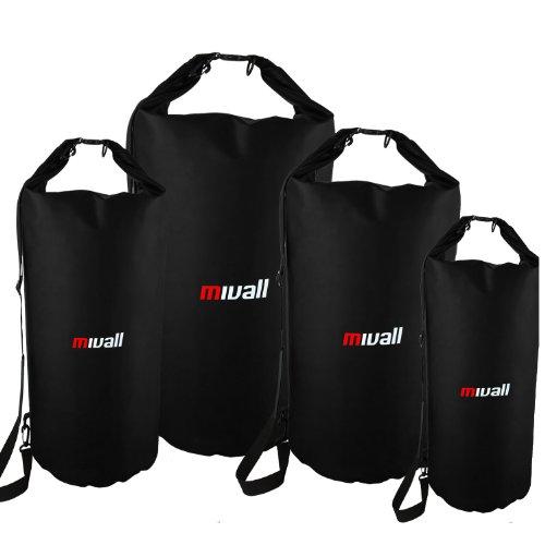 Mivall Wasserdichter Packsack Seesack Transportsack 10/20 / 30/50 Liter (50 Liter)