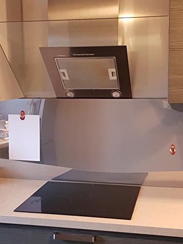 Fondo di cappa Credenza Inox magnetica 1mm H 50cm x l 50cm L150cm in 1mm, Acciaio INOX,...