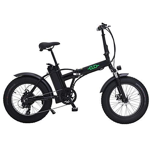 HUAEAST Bici Grassa Elettrica 48V15AH 500W Motore 20 Police Ebike Bici 7 velocità Mountain Bike...