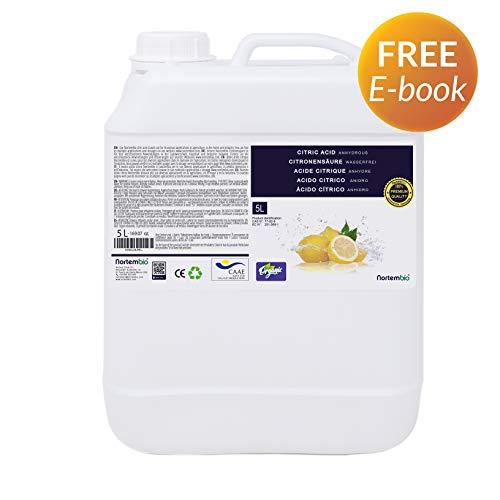 Nortembio Acido Citrico 5L. Liquido Concentrato, 100% Puro. per Produzione Biologica. Sviluppato in...