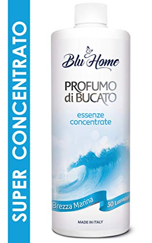 Blu Home Essenza Profuma Bucato, Profumo per Bucato, Essenza Bucato a Lunga Durata, Super Concentrato per Lavatrice (Brezza Marina, 500 ml)