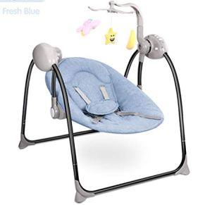 BIANJESUS Baby Bouncer Chair Mecedora Swing Toddler Kids Control Remoto Plegable Música Edades eléctricas 0 a 3 Ensamblaje rápido Mecedora portátil portátil para recién Nacidos