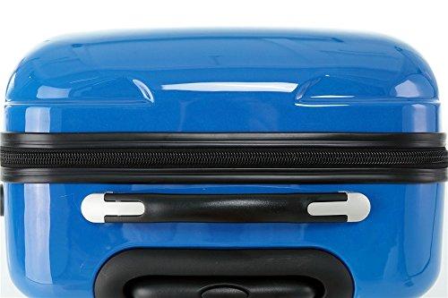 Polycarbonat Hartschale Koffer 2060 Trolley Reisekoffer Reisekofferset Beutycase 3er oder 4er Set in 7 Motiven (Flug(3er Set)) - 6