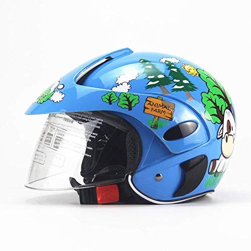 Kinderhelm Motorrad Harley Batterieauto Männer Und Frauen Baby-Kinder-Sicherheit Helm Kinder Halbhelm (2-8 Jahre Alt),A