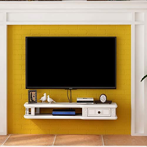 KTYXDE Scaffale Mobile Porta TV Mobile Porta TV Set-Top Box TV Bianco Mobile Contenitore per unità...