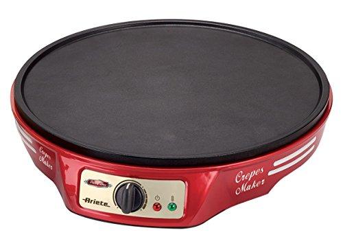 Ariete 183 Crepes Maker - Crepiera elettrica con termostato, Piastra antiaderente, Diametro 28cm, 2...