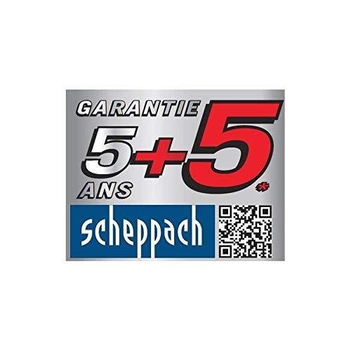 Scheppach Elektro- Motorhacke MTE450 (1500 Watt, Arbeitsbreite max.: 450mm, Arbeitstiefe max.: 180mm, Hackmesser- Ø: 200mm, 6 Messer, robustes Metallgehäuse, klappbarer Handgriff, Transporträder)