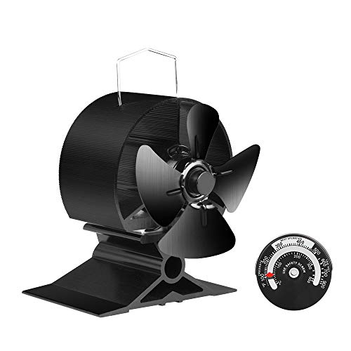 Designed for small spaces, the JKsmart Mini Stove Fan measures on 11cm tall so is nearly half the size of most other models which means it will fit on top of stoves where standard sized stove fans are too large.