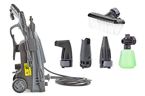 Andrew James Immacuclean High Pressure Washer Jet - 5 Angled and Adjustable Nozzles & Detergent Bottle Attachments Included - Portable Ideal Washers for Cars and Patio