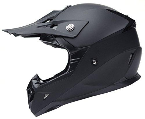 YEMA Motocross Motorradhelm Downhill Fullface Helm YM-915 Cross DH Enduro Quad Mountainbike BMX MTB Helm ECE für Damen Herren Erwachsene-Schwarz Matt-XL