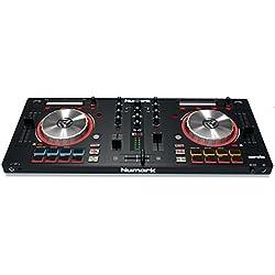 Numark MixTrack Pro III - Controlador DJ todo en uno de 2 canales, con Jog wheels metálicas y tarjeta de sonido, Serato DJ Intro y Prime Loops Remix ToolKit