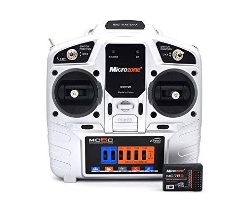 RC Trasmettitore e Ricevitore, Microzone MC6C Radiocomando 2.4G 6CH (Acceleratore della Mano...