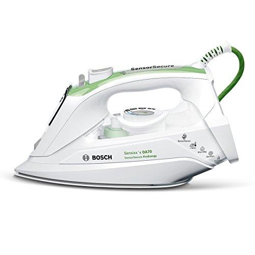 Bosch TDA702421E Ferro da Stiro, 2400 W, 45, 0 Decibel, Acciaio Inossidabile, Bianco/Verde