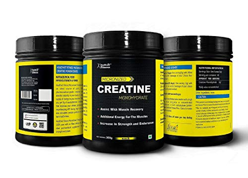 HealthVit Fitness Micronised Creatine Monohydrate Powder - 300 g (Unflavored)