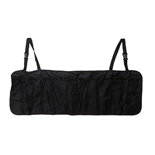 Lemish Car Back Seat Organizer Storage Bag Kick Mat Protector Tissue Box Travel holder Pouch Hanger Accessories-Black