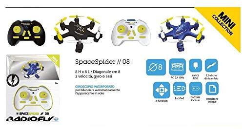 Space Spider mini Drone 6 eliche carica USB