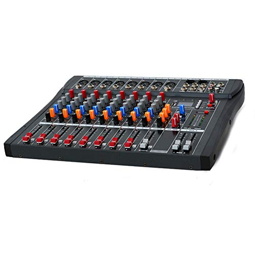 RISHIL WORLD CT80S 8 Channel Professional Live Studio Audio Mixer with 48V Phantom USB Effect