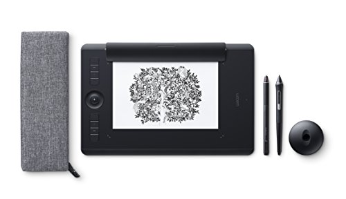 Wacom Intuos Pro Medium Paper Edition - Tablette graphique à stylet professionnelle - Compatible avec Mac, Windows et de nombreux logiciels de créations - X pouces - Noir