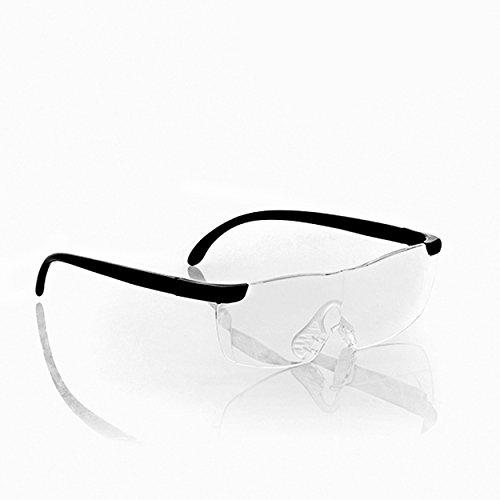 Oramics Lupenbrille Vergrößerungsbrille Brillenlupe – ideal zum Lesen und für Feinarbeiten – 60{ae38cfb612120b87f6d381557639a4a22b718020d9897e817b02b888cc21237a} Vergrößerung, ergonomisches Design aus Polycarbonat inkl. Stoffetui