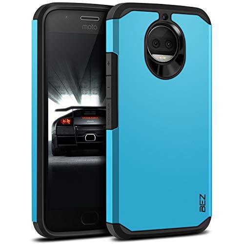 BEZ Funda Moto G5s Plus, Carcasa Compatible para Motorola Moto G5s Plus, Antideslizante Ultra Híbrida Gota Protección, Cover Anti-Arañazos con Absorción de Choque Resistente, Azul