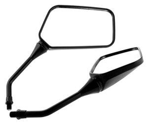 2x Universal Spiegel BOOSTER, schwarz, M10 Rechtsgewinde, Linksgewinde f. Yamaha, Nylon/ABS, Motorrad Spiegel 360 Grad Schwenkbar 4