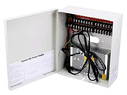 Monoprice 106875 16 Channel CCTV Camera Power Supply (White)