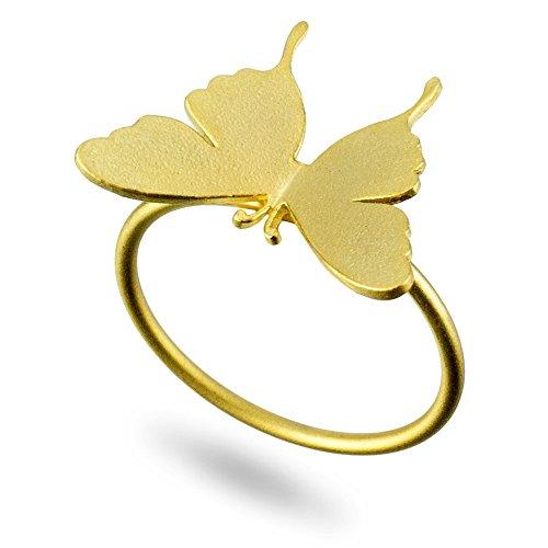 Anillo mate mariposa (oro) fabricado con aleación de lata por Joe Cool